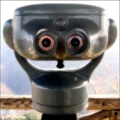 """Telescope? -- via """"Inanimate Objects With Faces"""""""