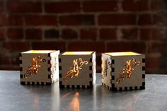 Butterfly Candle Holder - laser cut