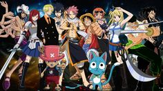 Fairy Tail X One Piece Crossover by Negator7.deviantart.com on @deviantART