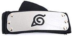 Generic Canvas Alloy Naruto Uzumaki Head Band (Black and Silver, Dory, Naruto Shippuden, Ninja, Band, Amazon, Canvas, Silver, Stuff To Buy, Jewelry