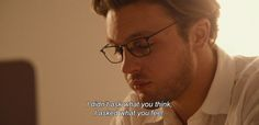 """""""I didn't ask what you think, I asked what you feel."""" I Origins (2014)"""