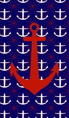 RED, WHITE AND BLUE ANCHORS