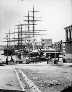 Wool ships at Circular Quay in Sydney in 1900.