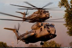 """Sikorsky CH-53D Sea Stallion (S-65A) - HMH-363 """"Lucky Red Lions"""" Delta lands during WTI's urban ops exercise"""