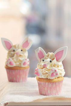Estos cupcakes de conejito son ideales y super delicosos Desserts, Blog, Home, Easter Recipes, Beautiful Cakes, Easter Bunny, Fruits And Vegetables, Party, Bunnies