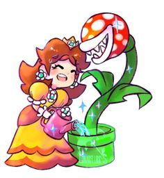 Princess Daisy - Super Mario World Super Mario Smash, Super Mario Art, Super Mario World, Nintendo Game, Nintendo Characters, Video Game Characters, Princesa Daisy, Princesa Peach, Luigi And Daisy