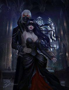 vampire and blinded vampiress