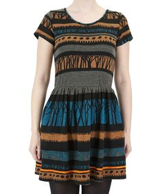 Take a look at this Blue Abstract Stripe Dress on zulily today!