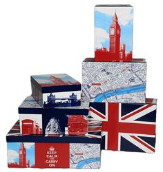 British Boxes (set of 3)