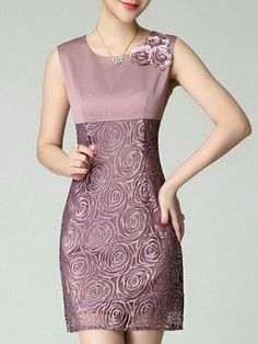 General Pink Day Dresses Above Knee Polyester Casual Round Neckline Spring Summer Floral Sleeveless S Sheath Dress M L Pencil XL XXL Dress color:Pink Simple Dresses, Elegant Dresses, Casual Dresses, Short Dresses, Fashion Dresses, Sheath Dress, Dress Skirt, Lace Dress, Bodycon Dress