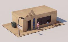 Case concept box shoes store.