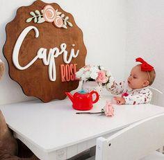 The Polymathmom ® | Baby Decor (@thepolymathmom) • Instagram photos and videos Nursery Name, Nursery Room Decor, Nursery Signs, Boho Nursery, Baby Name Decorations, Baby Decor, Cute Baby Names, Baby Girl Names, Boy Names