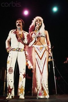 Sonny and Cher 70's glam style