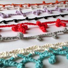How to crochet a chain of bobbles, step-by-step tutorial by mrsbrownmakes.