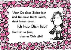 Ich hab Dich lieb! | sheepworld | Echte Postkarten online versenden | sheepworld