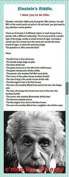 Einstein's Tricky Riddle