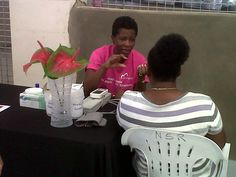 The Sparman Clinic provided free mini health checks to Trimart shoppers to help promote healthy living in Barbados.