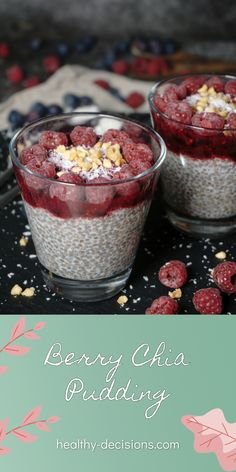 """How about a light berry chia pudding for breakfast? ☕️ This chia pudding is full of vitamins and important omega-3 fatty acids. 👆🏻It is perfect for all those who are not big """"breakfasters""""☕️. The pudding is also low in calories and low carb. 🥰 #berrychiapudding #chiapudding #pudding #berry #chia #recipe #breakfast #dessert #snack #vegan #dairyfree #sugarfree #glutenfree Sugar Free Recipes Healthy, Healthy Breakfast Recipes, Healthy Desserts, Vegan Recipes, Healthy Low Calorie Meals, Low Calorie Recipes, Clean Eating Diet, Omega 3, Vitamins"""
