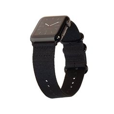 dd3ed568400f Amazon.com  Apple Watch Band 42mm XXL NYLON NATO iWatch Band - Super Long  Black Replacement Strap with Space Black Buckle