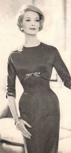 1959 perfection. Love the neckline and the sleeves.