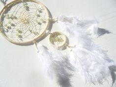Heller Traumfänger mit Bergkristall und Jade von Hochwertige  Traumfänger, Schmuck, Bilder u.v.m. auf DaWanda.com