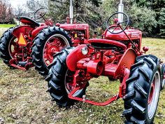 Here's a nice pair of old tractors. They are: International Harvester Farmall A and Farmall Super C. They video is about these two tractors.