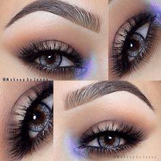 Pop of purple A pop of purple! emoji All MAC eyeshadows- Saddle, brown script, vanilla, stars & rockets Brows- @anastasiabeverlyhills #dipbrow Dark brown Lashes- no name Lenses- @eyecandyscom #makeupbyjenny