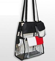 Clear Handbag with Front Pocket - Handbags, Bling & More!