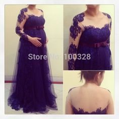 Find More Prom Dresses Information about Free Shipping Vestido De Festa Scoop Neckline Appliques Floor Length Full Sleeve Backless A Line Pregnant Women Prom Dress 2015,High Quality dress ge,China dresses sex and the city Suppliers, Cheap applique felt from Rose Wedding Dress Co., Ltd on Aliexpress.com