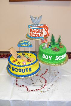 Fun boy scout cakes.