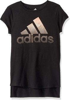 Machine wash Short Sleeve T-Shirt The short sleeve curved hem tee features curved front hem with side vents and drop tail back hem cotton, polyester Machine wash Kids Outfits Girls, Shirts For Girls, Boy Outfits, Adidas, Vintage Style Outfits, Short Girls, Tee Shirts, Clothes For Women, Drop