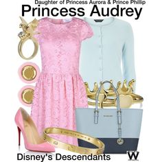 Inspired by Sarah Jeffery as Princess Audrey, daughter of Princess Aurora and Prince Phillip in the upcoming 2015 TV movie Descendants.