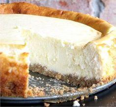 THE BEST SOUR CREAM CHEESECAKE - baked, cake, cheesecake, cookie, cream, dessert, milk, recipes, vanilla