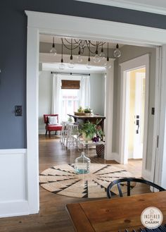 Summer Home Tour! charcoal blue, dove grey, and songbird egg blue..... all grey tones