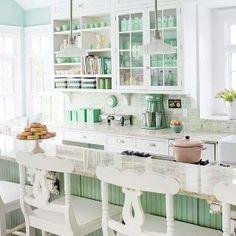 Beautiful kitchen decorated with jadeite