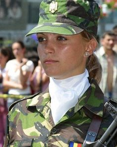 Romania female soldier by militarytopics