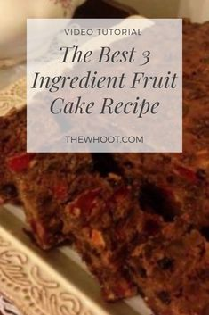 You will love this 3 Ingredient Fruit Cake that is a blue ribbon Prize Winning Recipe. Get the details now and check out the video tutorial too. 3 Ingredient Fruit Cake Best Recipe Ever - 3 Ingredient Fruit Cake Best Recipe Ever 3 Ingredient Fruit Cake Recipe, Light Fruit Cake Recipe, 3 Ingredient Cakes, Best Fruit Cake Recipe Ever, Eggless Fruit Cake Recipe, Boiled Fruit Cake, Vegan Fruit Cake, Marshmallow Creme, Chocolate Chip Cookies