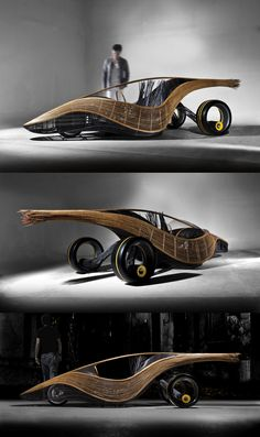 Kenneth Cobonpue's Phoenix roadster, a biodegradable concept car made from bamboo, rattan, steel and nylon
