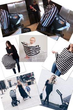 Meghan King Edmonds' Striped Baby Car Seat Cover for Her Daughter Aspen http://www.bigblondehair.com/real-housewives/meghan-edmonds-striped-car-seat-cover/ Real Housewives of Orange County Season 12 Episode 2