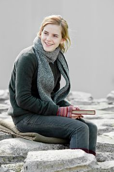 Hermione studying away :)