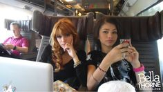 Z and me on the Eurostar to London #zendaya #bellathorne
