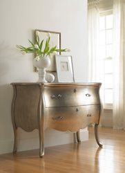 Home Furniture | Living Room Accent Furniture | Metallic Bombe Chest - By Hooker Furniture