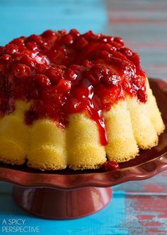 Buttermilk Cherry Bundt Cake - Brilliant Bundt Cakes Ebook Release Party! #bundtcake #ebook