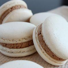 Espresso Macarons with Mocha Filling