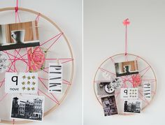 Quick Tip: Make an Awesome Neon String Hoop Inspiration Board | Crafttuts+