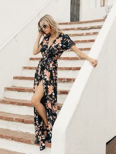 Isabella Wrap Floral Maxi from YIREH // 15 Fair Trade & Ethically Made Dresses We're Eyeing For Summer