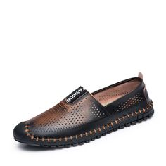 6e8cd091f74 Aliexpress.com   Buy Summer Fashion Men Loafers Shoes Boat Designer Flats  For Driving Moccasins Footwear Size 38 to 43 Black Brown Blue Gray Red from  ...