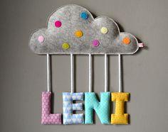 """Türschilder - Namensschild """"Wolke"""", ab 40,-€ f. 3 Buchstaben - ein Designerstück…"""