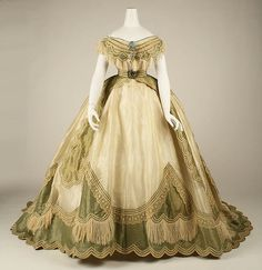 Dress - Dress Date: ca. 1865 Culture: French Medium: silk Dimensions: [no dimensions available] Credit Line: Gift of Mary Pierrepont Beckwith, 1969
