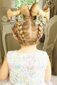 27 Cute Flower Girl Hairstyles ❤ See more: http://www.weddingforward.com/flower-girl-hairstyles/ #weddings #hairstyles